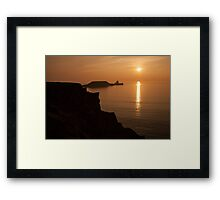 worms head sunset gower Framed Print