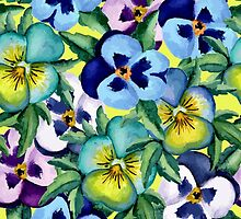 Pansy pattern by JuliaBadeeva