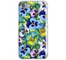 Pansy pattern iPhone Case/Skin