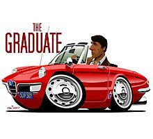 Alfa Romeo Duetto The Graduate caricature Photographic Print