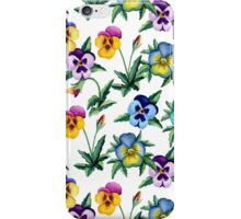 Pansy white pattern iPhone Case/Skin