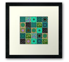 Sea Green Crazy Quilt Framed Print