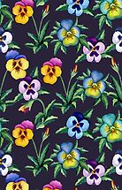 Pansy violet pattern by JuliaBadeeva