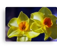 Fractilized Spring Daffodils Canvas Print