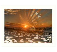 Sunrise and Apophysis Art Print