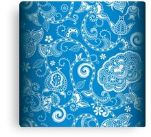 Blue party Art Canvas Print