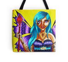 Purple winged Dark Elf Tote Bag