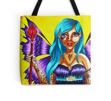 Purple winged Dark Elf Tote Bag