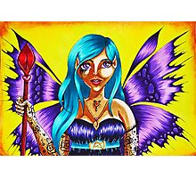 Purple winged Dark Elf Photographic Print