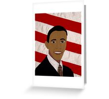 Fiber Obama Greeting Card