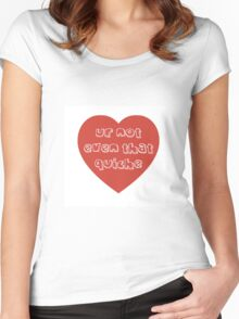 Quiche Heart Women's Fitted Scoop T-Shirt