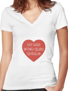 Quiche Heart Women's Fitted V-Neck T-Shirt