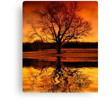 Sunset Thinking Canvas Print