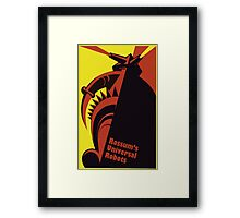 RUR - universal robot - android Framed Print