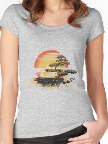 Japan art Women's Fitted Scoop T-Shirt
