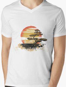 Japan art Mens V-Neck T-Shirt