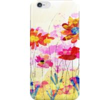 Colorful pink flowers, watercolor iPhone Case/Skin