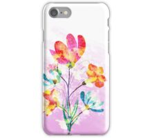Poppy flowers, watercolor background iPhone Case/Skin