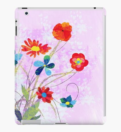 Scenic watercolor background, floral composition iPad Case/Skin