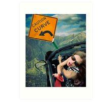 Ironic Death - Seat Belt Distraction Art Print