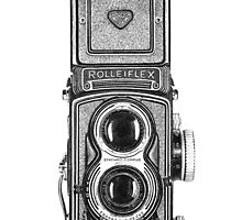 Rolleiflex T - Pen on Paper Drawing by MaShusik