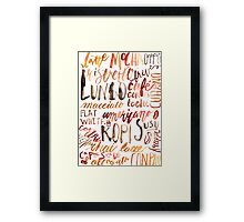 Coffee Jungle Framed Print