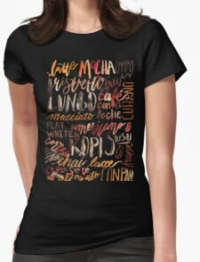 Coffee Jungle Womens Fitted T-Shirt
