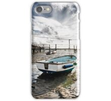 Boats at low tide iPhone Case/Skin