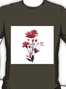 Watercolor Cosmos flowers T-Shirt