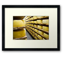 Cheese drying Framed Print