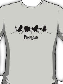 pokeroad - pokemon - Abbey Road - beatles - pikachu -  T-Shirt