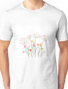 Beautiful Watercolor flower set over white background for design Unisex T-Shirt