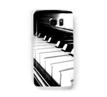 Black and White Piano Keyboard Samsung Galaxy Case/Skin