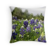 Blue Bonnets Throw Pillow
