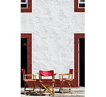 Folding chairs Photographic Print