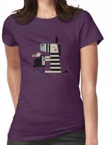 Music Zebra Womens Fitted T-Shirt