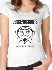 Descendcounts - everything sucks Women's Fitted Scoop T-Shirt