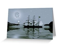 ~ PIRATE'S COVE BY NIGHT ~    Greeting Card