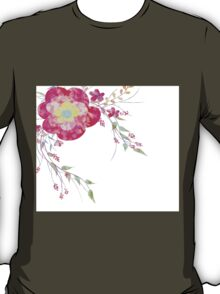 Spring romantic flowers, watercolor T-Shirt