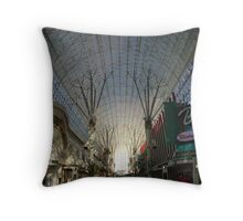 Fremont Street by Day Throw Pillow