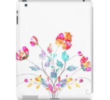 Stylized Poppy flowers watercolor iPad Case/Skin