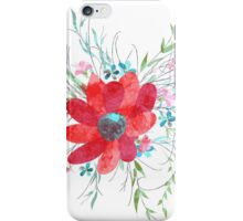 Summer illustration of flowers iPhone Case/Skin