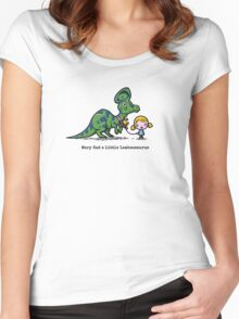 Mary Had A Little Lambeosaurus Women's Fitted Scoop T-Shirt