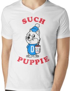 Such Puppie (Doge, Shibe, Shiba Inu) Mens V-Neck T-Shirt