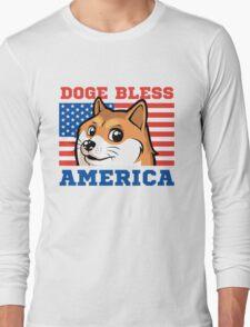 Doge Bless America Long Sleeve T-Shirt
