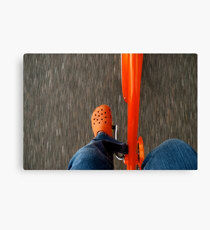 Pedal Action Canvas Print