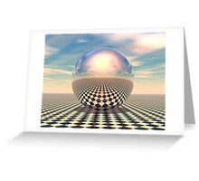 Checker Ball Greeting Card