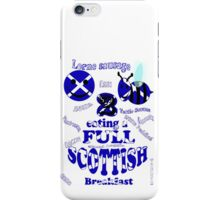 happy 2 bee eating a full Scottish iPhone Case/Skin