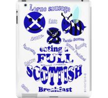 happy 2 bee eating a full Scottish iPad Case/Skin