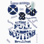 happy 2 bee eating a full Scottish by gruntpig
